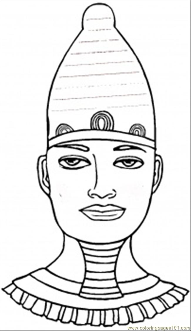 Egyptian Pharaoh Coloring Page - Free Egypt Coloring Pages ...