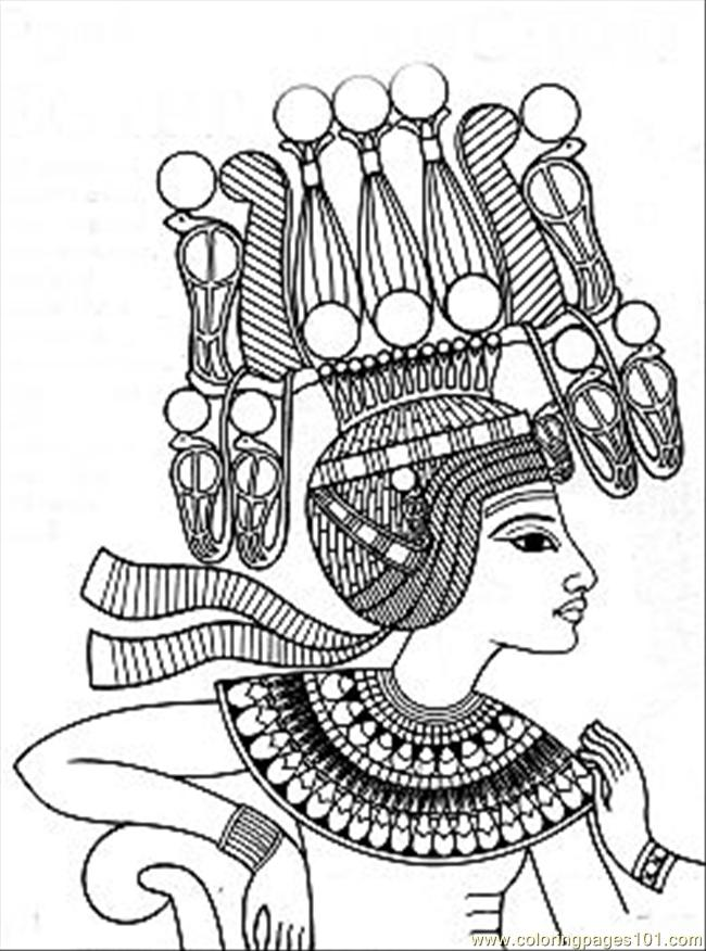 Egyptian papyrus painting coloring pages - Hellokids.com | 876x650