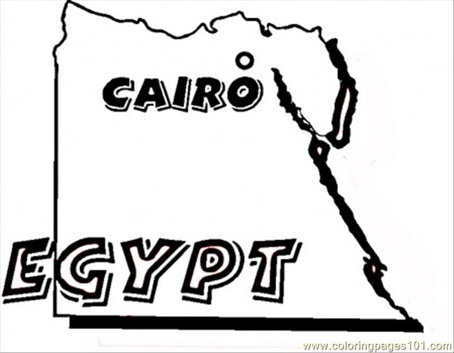 Map Of Egypt Coloring Page Free Egypt Coloring Pages