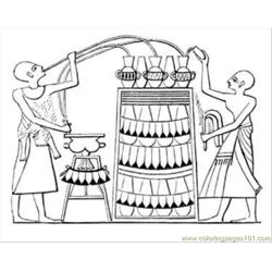 Wine In Egypt Free Coloring Page for Kids