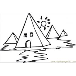 Yptian Pyramids Coloring Page