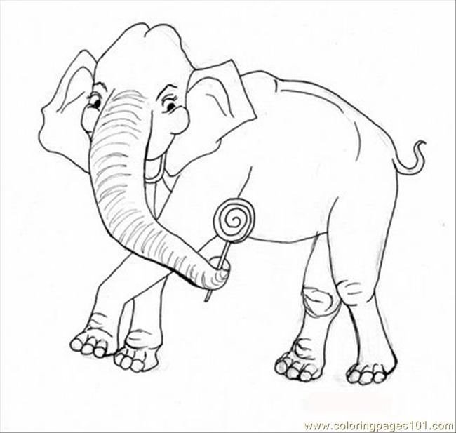 2belephant%2bcoloring Coloring Page
