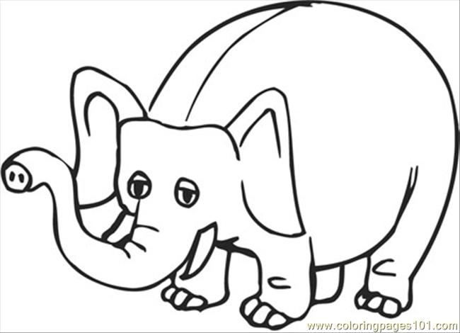 Cartoon Coloring Pages Phant Coloring Page