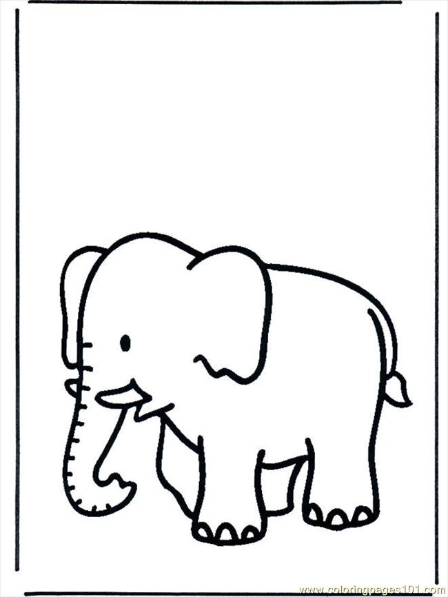 Coloring Pages Elephant B658 Coloring Page