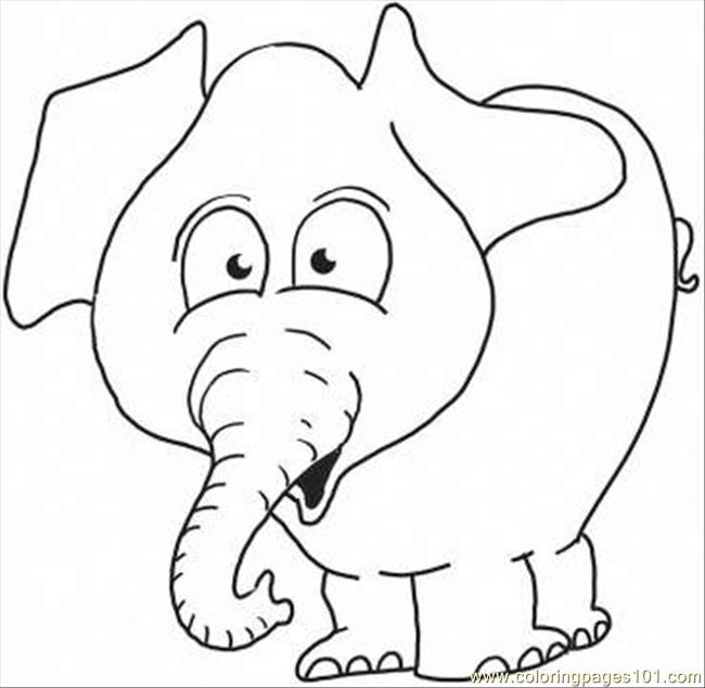 Elephant 6 Coloring Page Coloring Page