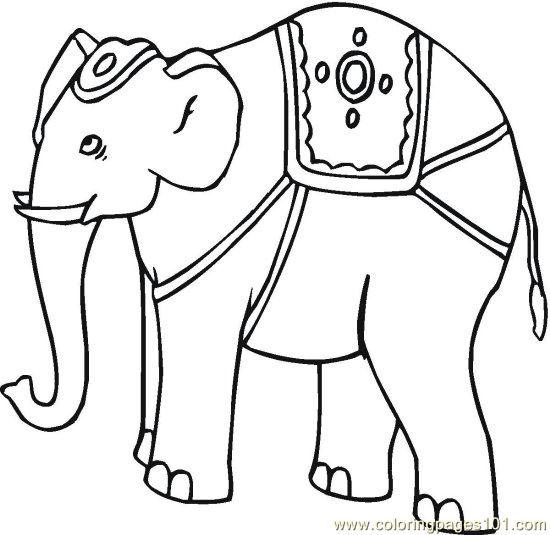 elephant 4 coloring page - Coloring Pages Indian Elephants