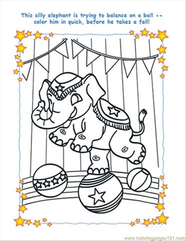 Elephant Colorpage July10 Coloring Page