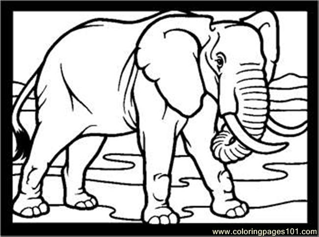 Elephant Rdax 65 Coloring Page
