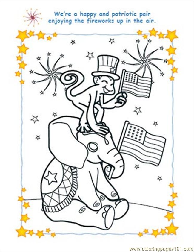 Hantandmonkey Colorpage July4 Coloring Page