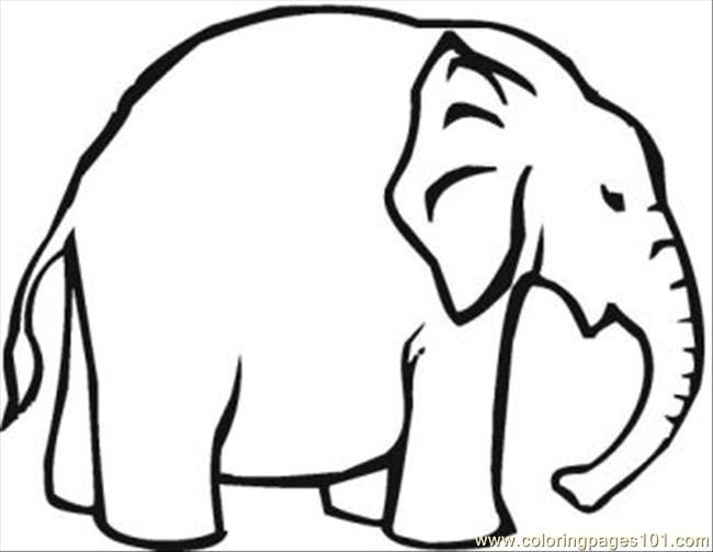 Ing Pages Of Elephants 15 Med Coloring Page