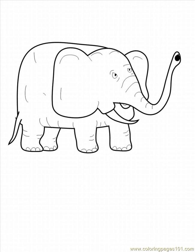 Lephant Coloring Pages 13 Lrg Coloring Page
