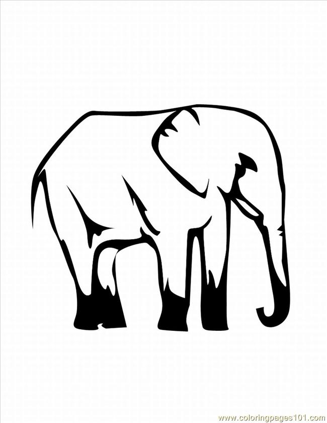 Lephant Coloring Pages 28 Lrg Coloring Page