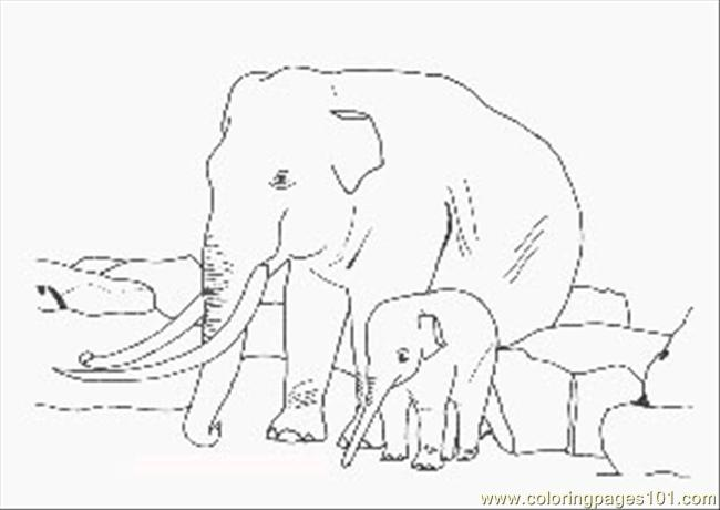 Lephants Coloring Page 121333 Coloring Page