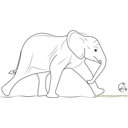 Elephants Hit the Ball Free Coloring Page for Kids
