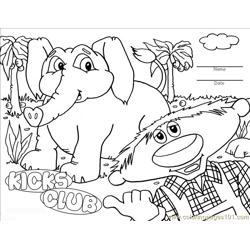 Kicks Coloring Page Elephant
