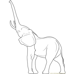 Young Indian Elephant Free Coloring Page for Kids