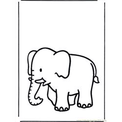 Coloring Pages Elephant B658