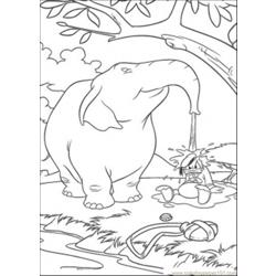 Ld And Elephant Coloring Page