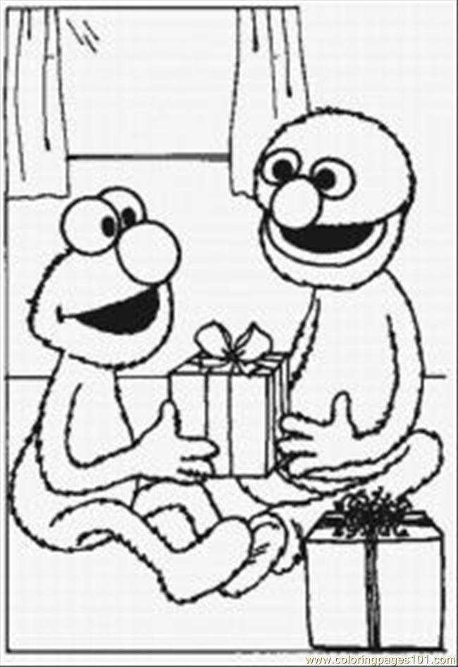 Elmo Coloring Pages 5 Med Coloring Page