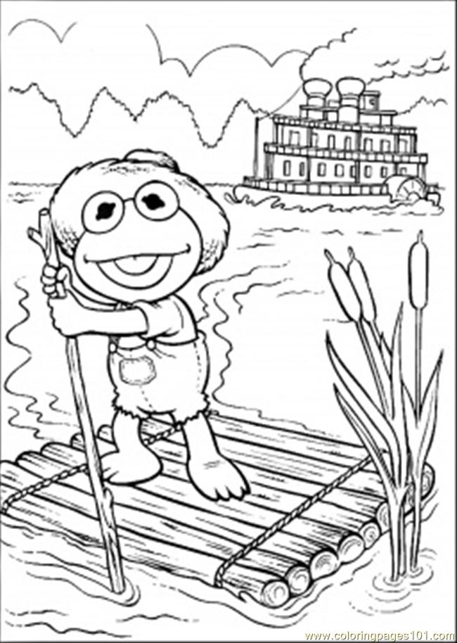 Ing In The Lake Coloring Page Coloring Page