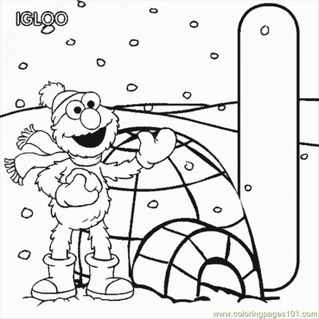Normal I Elmo Coloring Page