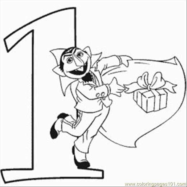 Numbers Coloring Pages 1 Med Coloring Page