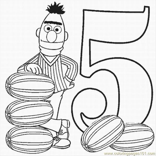 Numbers Coloring Pages 2 Lrg Coloring Page