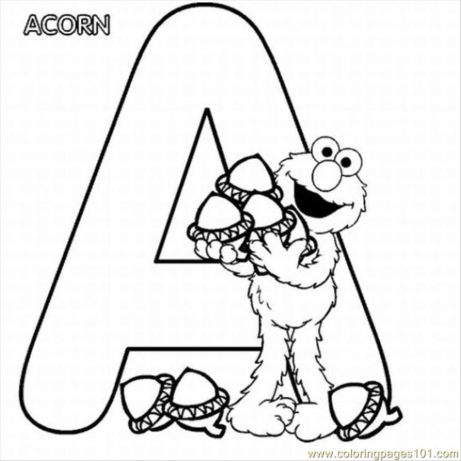 Table Elmo Coloring Pages Lrg Coloring Page