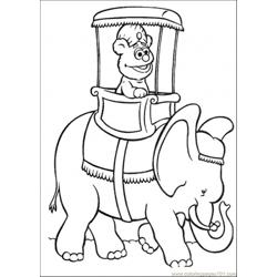 Ing An Elephant Coloring Page