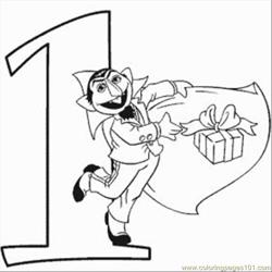 Numbers Coloring Pages 1 Med