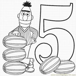 Numbers Coloring Pages 2 Lrg