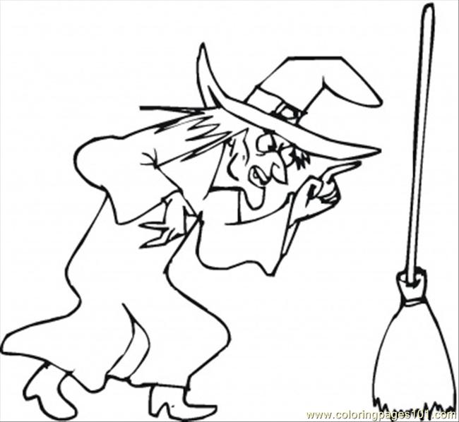 Angry Witch Coloring Page - Free Emotions Coloring Pages ...