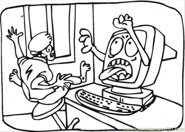 Fear Coloring Page