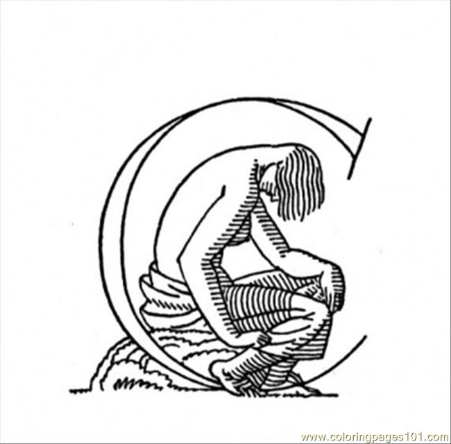 Sad Man Coloring Page
