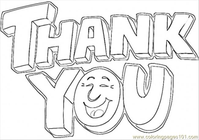 Saying Thank You Coloring P Coloring Page