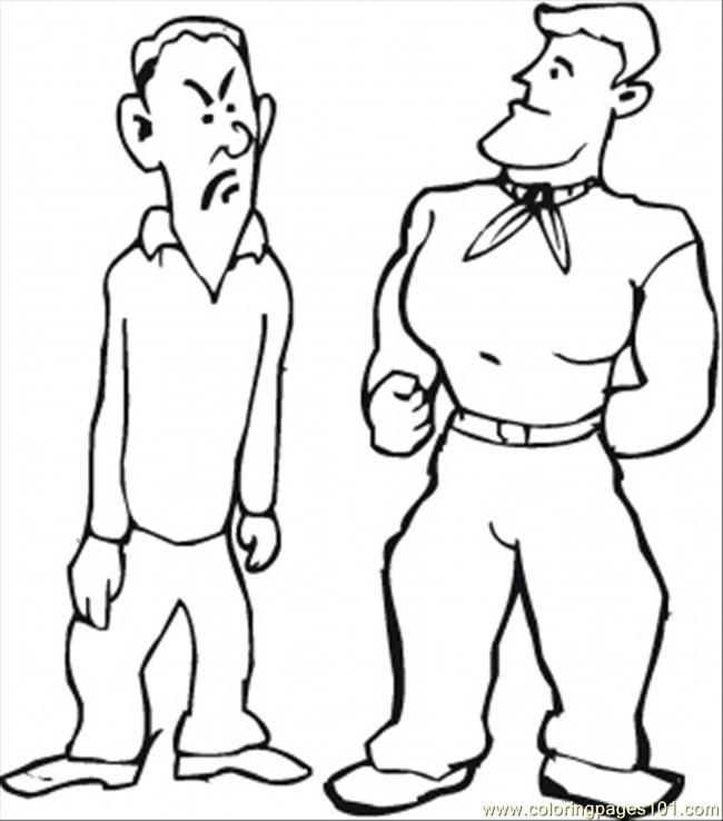 free strong man coloring pages - photo#4