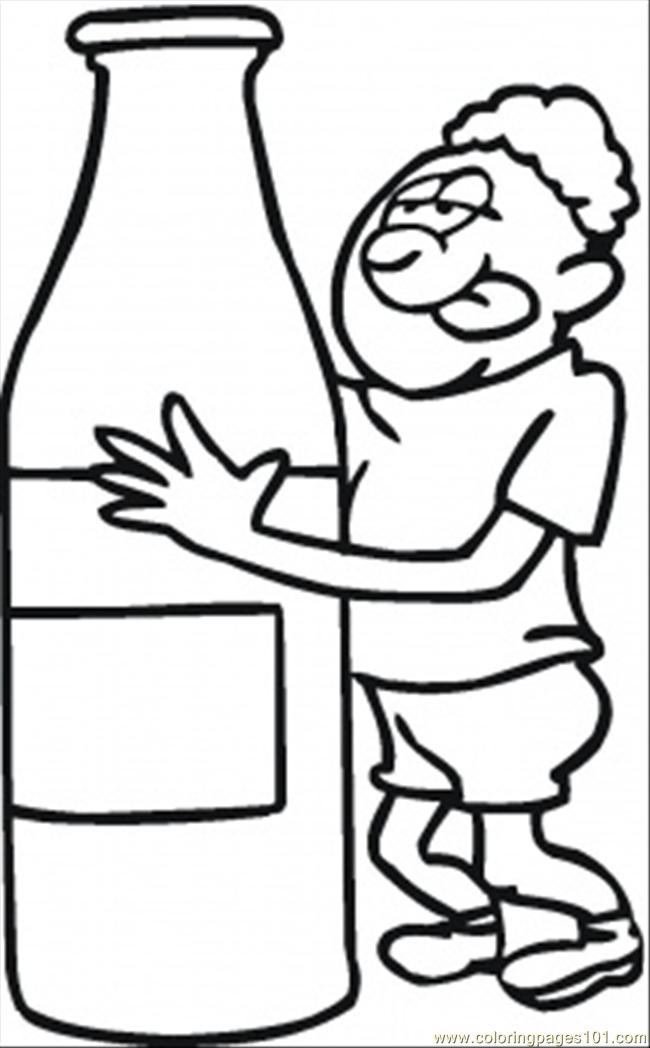 Thirsty After Long Run Coloring Page Free Emotions