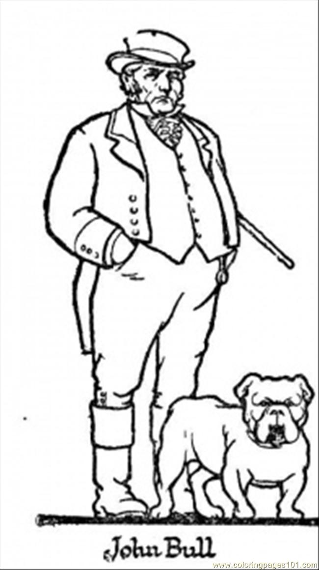This Man Is Proud Of His Dog Coloring Page