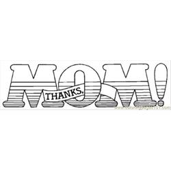 Thanks Mom Free Coloring Page for Kids