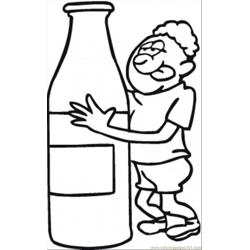 Thirsty After Long Run Free Coloring Page for Kids