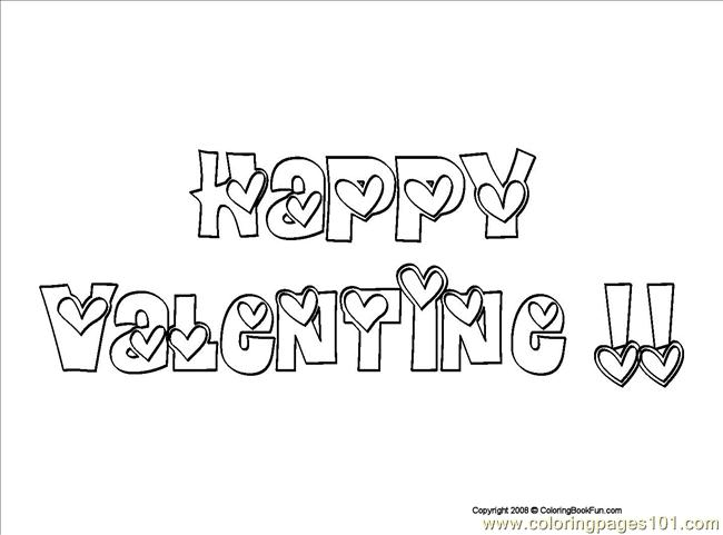02 Happy Valentine 1 Coloring Page