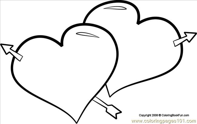 03 hearts 1 - Hearts Coloring Pages