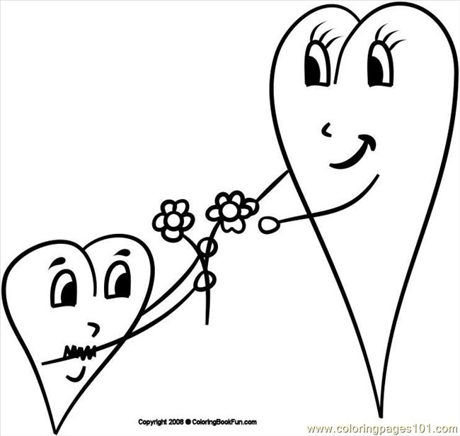 14 Hearts 3 Coloring Page