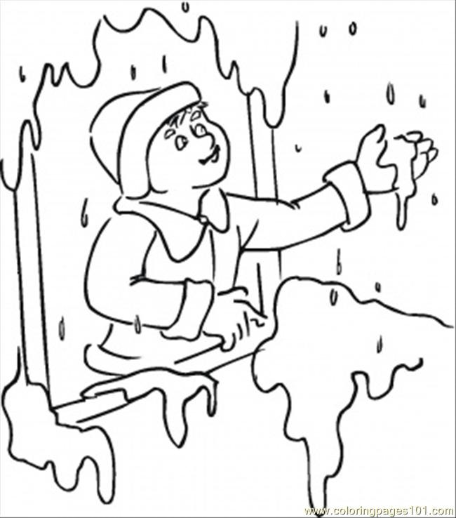 Snow Coloring Page