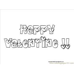 02 Happy Valentine 1 Free Coloring Page for Kids