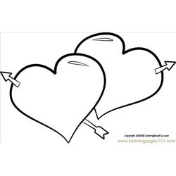 03 Hearts 1 Free Coloring Page for Kids