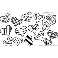 05 Hearts2 1 Free Coloring Page for Kids
