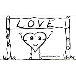 06 Love 2 Free Coloring Page for Kids