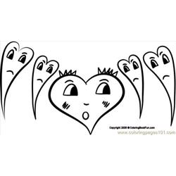 07 Hearts3 2 coloring page