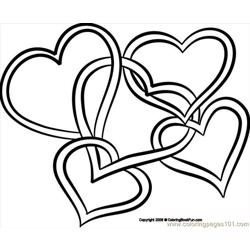 08 Hearts4 2 Free Coloring Page for Kids